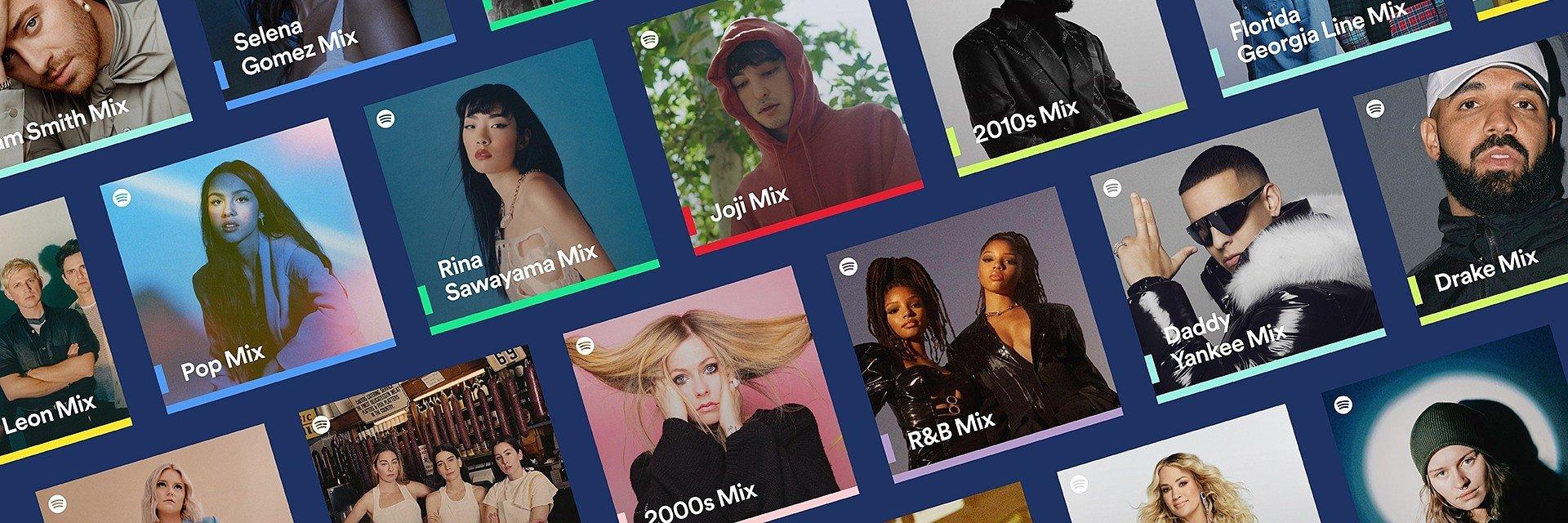Przedstawiamy Spotify Mixes: personalizowane listy odtwarzania z Twoimi ulubionymi wykonawcami, gatunkami i dekadami