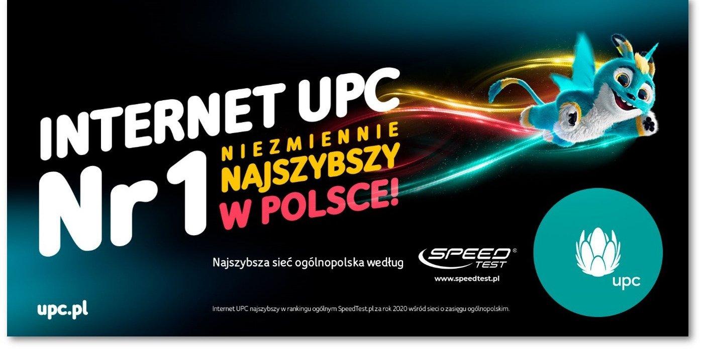 Internet UPC numer 1 - niezmiennie najszybszy w Polsce