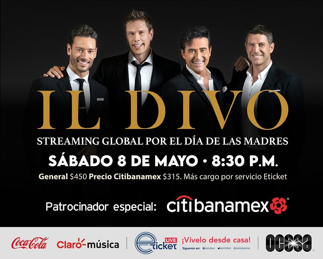Il Divo ofrecerá un concierto vía streaming a nivel mundial para celebrar el día de las madres