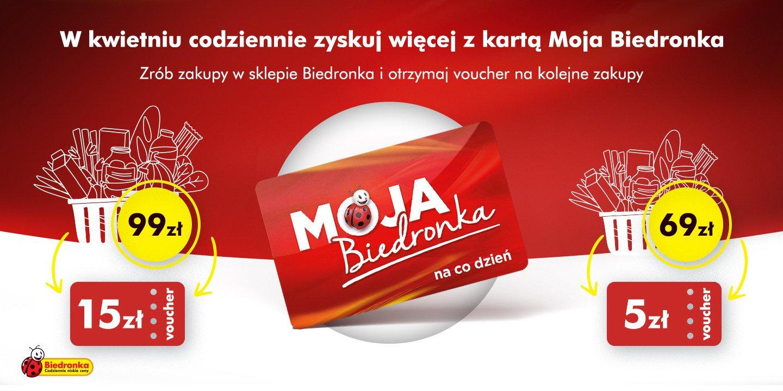 W kwietniu klienci Biedronki zyskują więcej z kartą Moja Biedronka