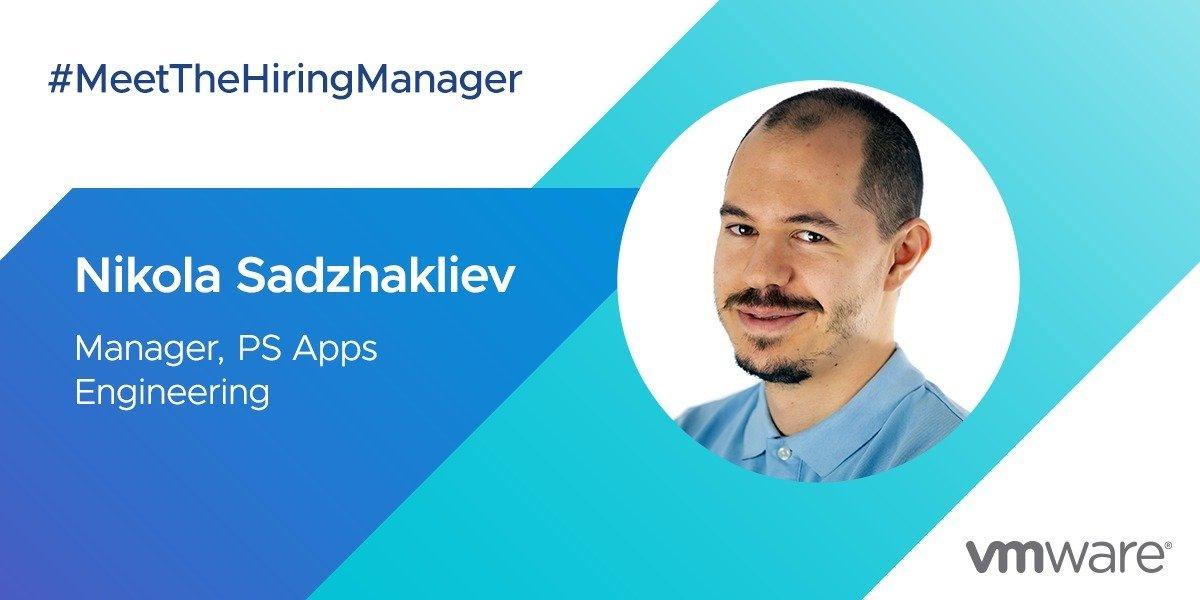 VMware Hiring Manager: Nikola Sadzhakliev