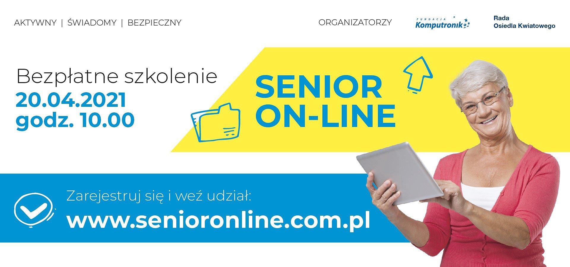 Aktywny, świadomy, bezpieczny. Bezpłatne szkolenie dla seniorów już 20 kwietnia!