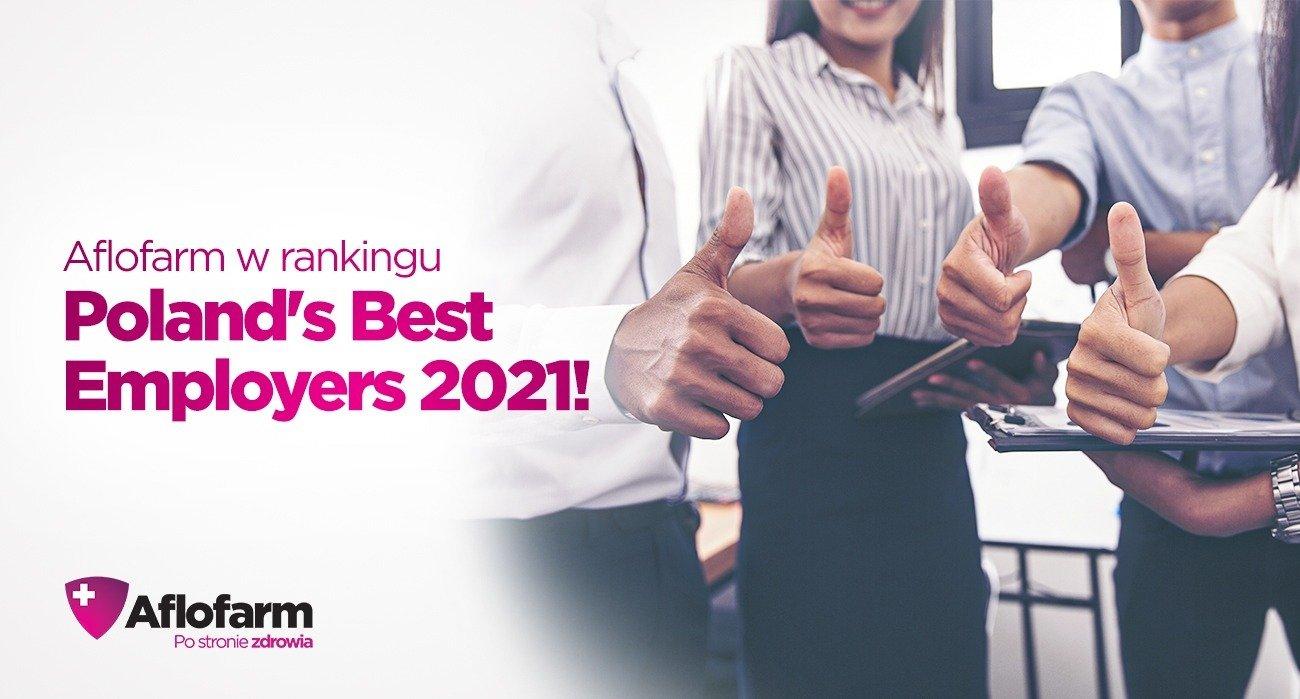 Aflofarm w rankingu Poland's Best Employers 2021!
