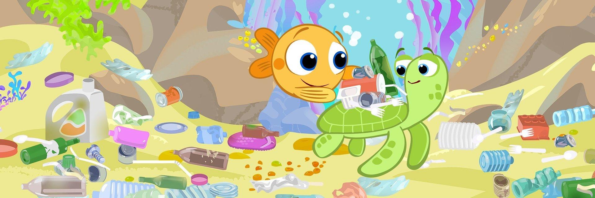 Z okazji Dnia Ziemi Rybka MiniMini uczy dzieci, jak dbać o środowisko.