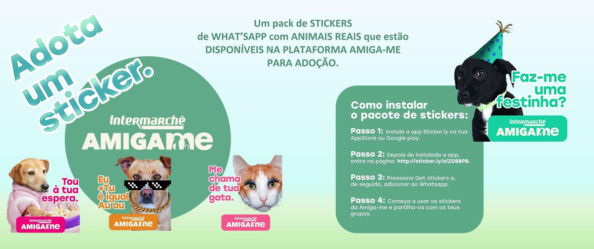 Intermarché lança campanha solidária inovadora com stickers do WhatsApp para promover a adoção de animais