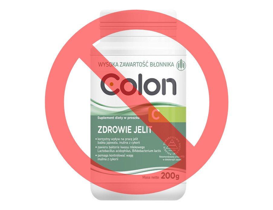 Suplementy Colon wycofane przez producenta
