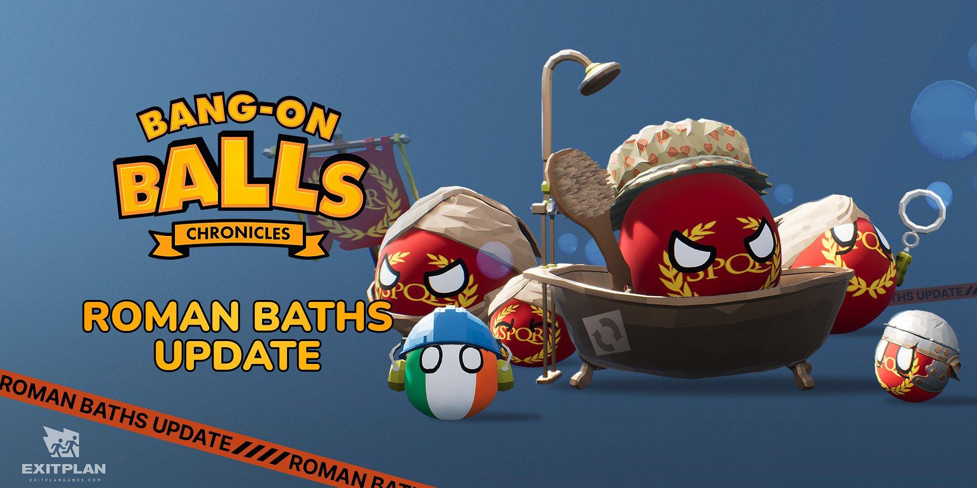 Soyez dans le bain avec la mise à jour de Bains Romains, déjà disponible dans Bang-on Balls : Chronicles !