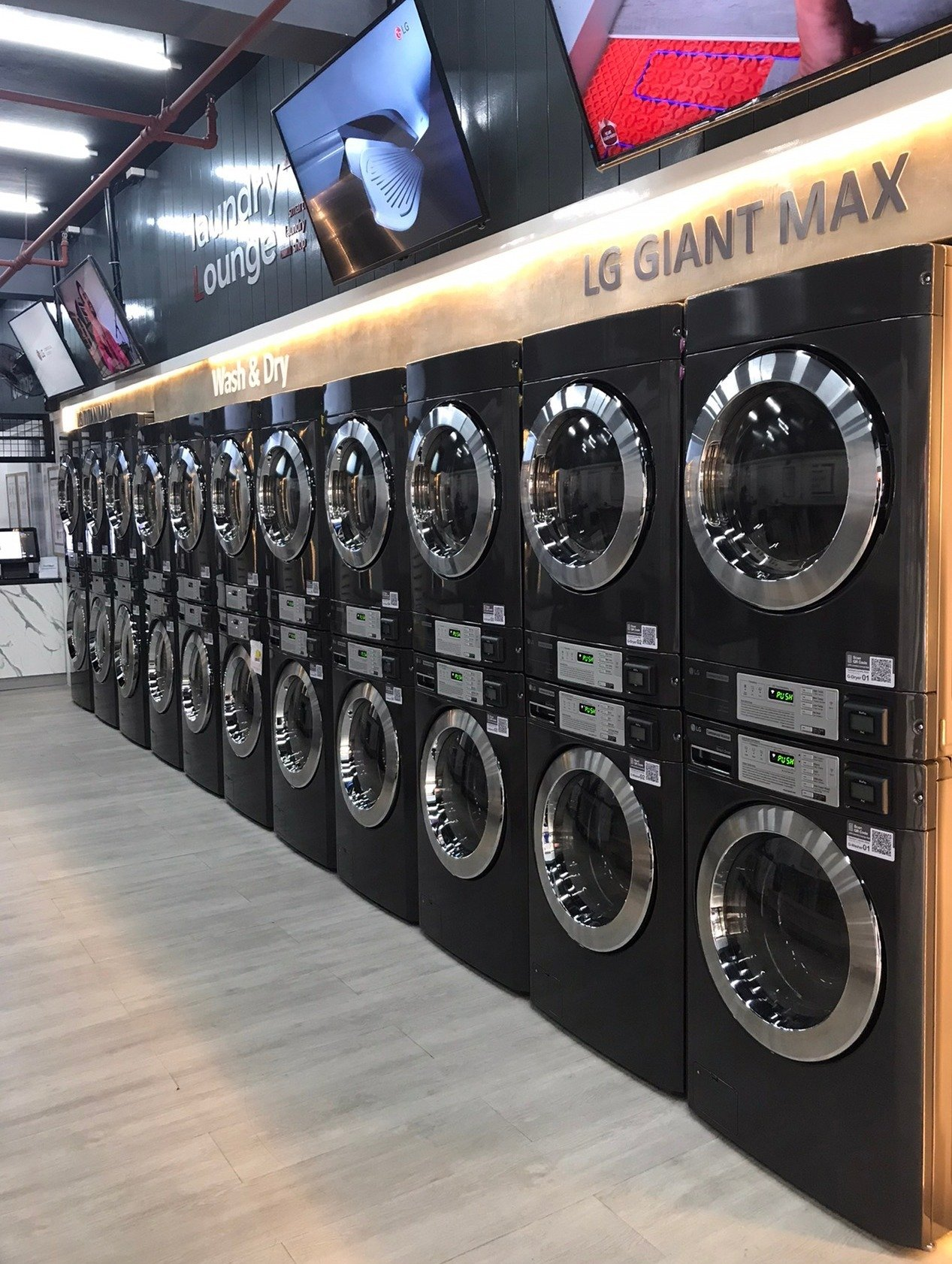 LG wprowadza inteligentne i zdrowe samoobsługowe pralnie przyszłości