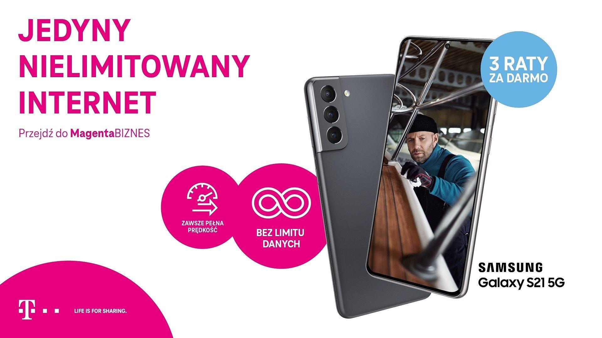 Samsung Galaxy S21 5G z trzema bezpłatnymi ratami w ofercie MagentaBIZNES