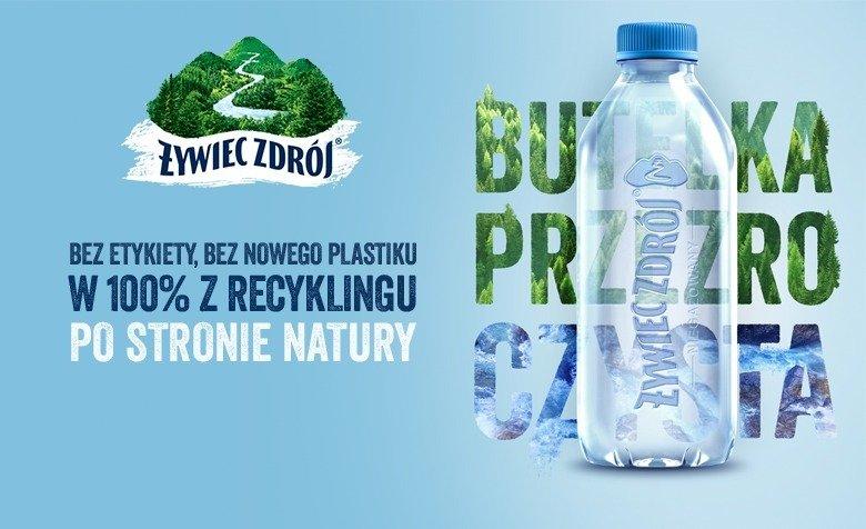 Żywiec Zdrój zamyka obieg plastiku. Pierwsza w Polsce przezroCZYSTA butelka – bez etykiety i w 100% z recyklingu
