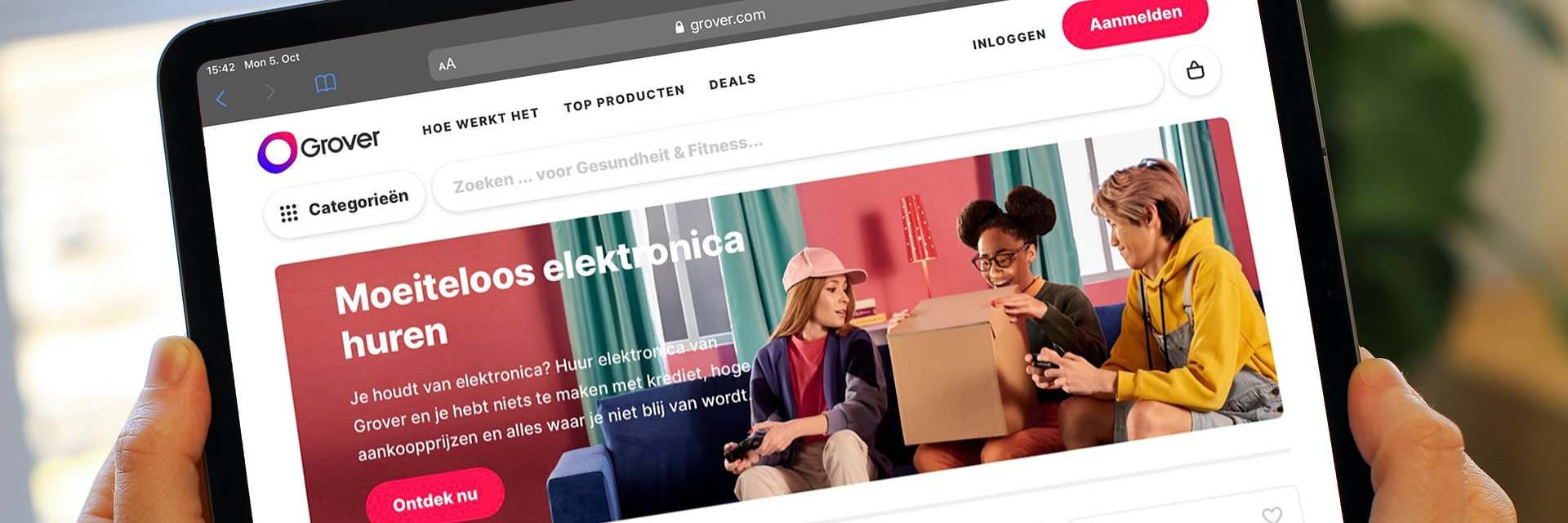 Online technology rental company Grover launches in the Netherlands