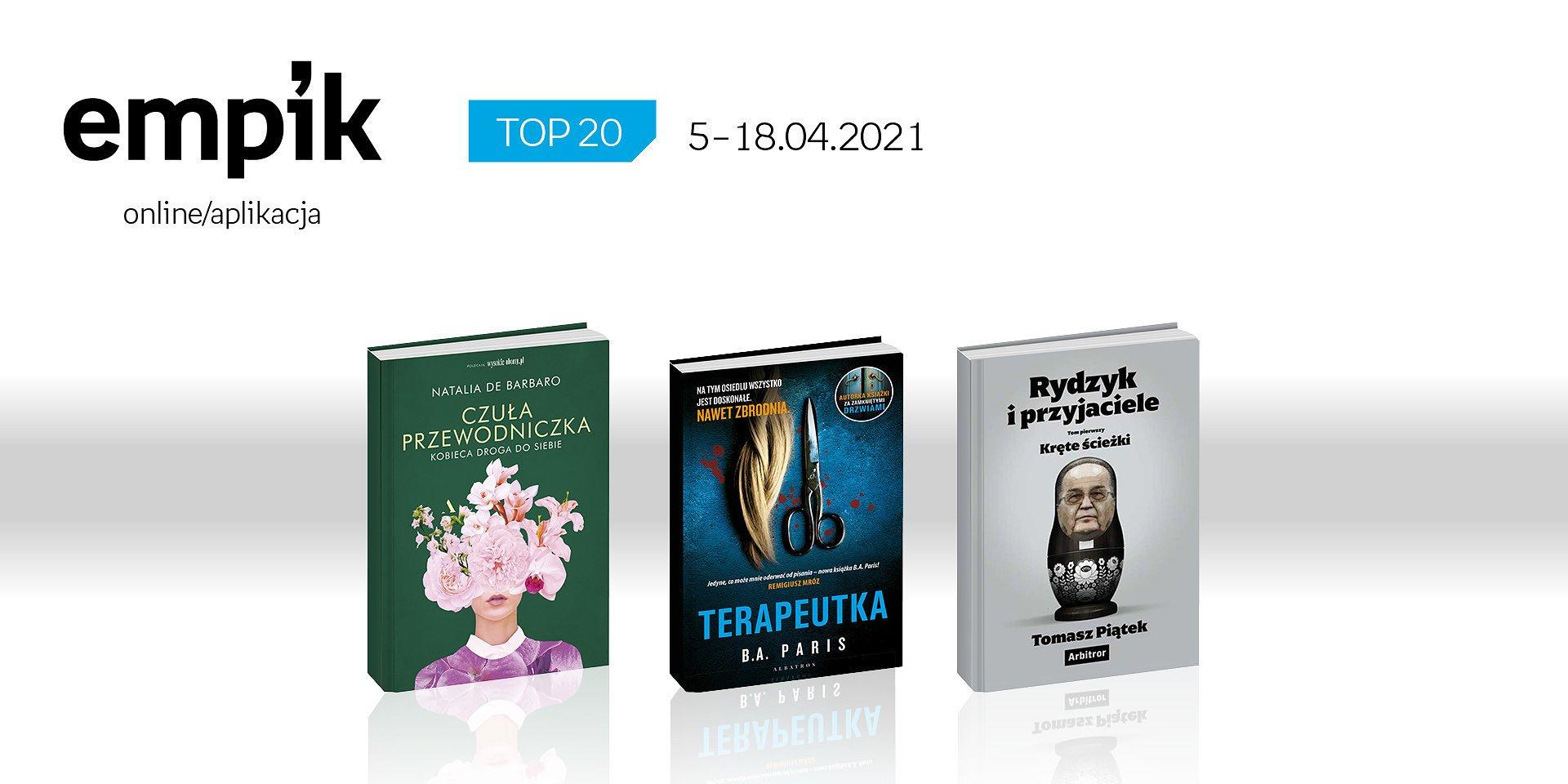 Książkowa lista TOP 20 na Empik.com za okres 5 – 18 kwietnia