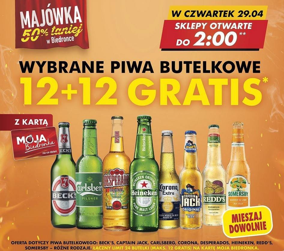 Tuzin piwa gratis tylko w Biedronce