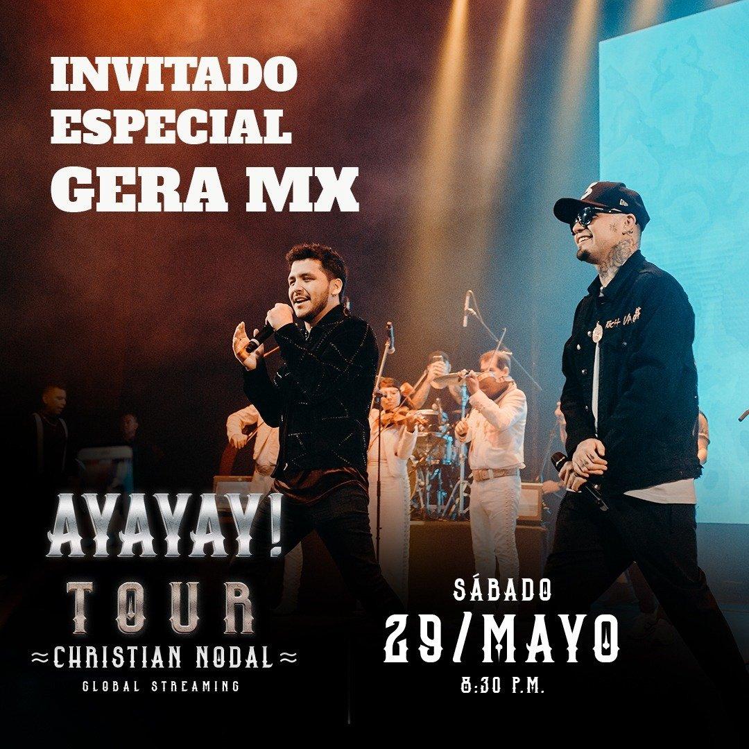¡Gera MX se unirá al streaming global de Christian Nodal el sábado, 29 de mayo!