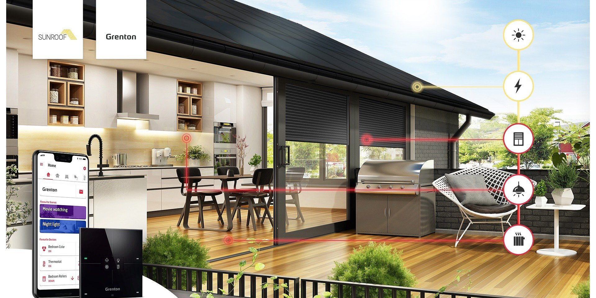 Solar Energy and Smart Home. Grenton has become a technological partner of SunRoof