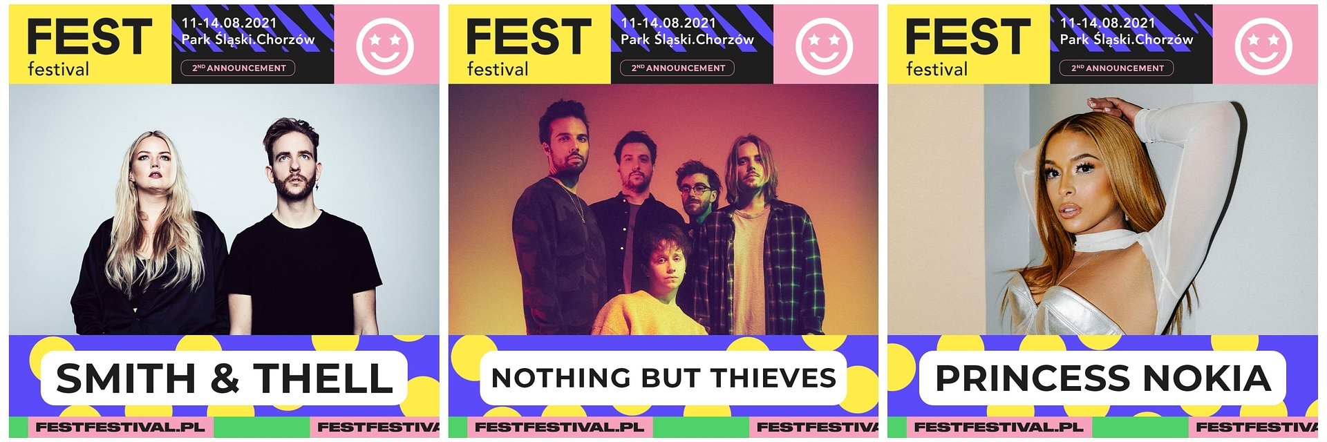 Nothing But Thieves, Princess Nokia i Smith & Thell na Fest Festival