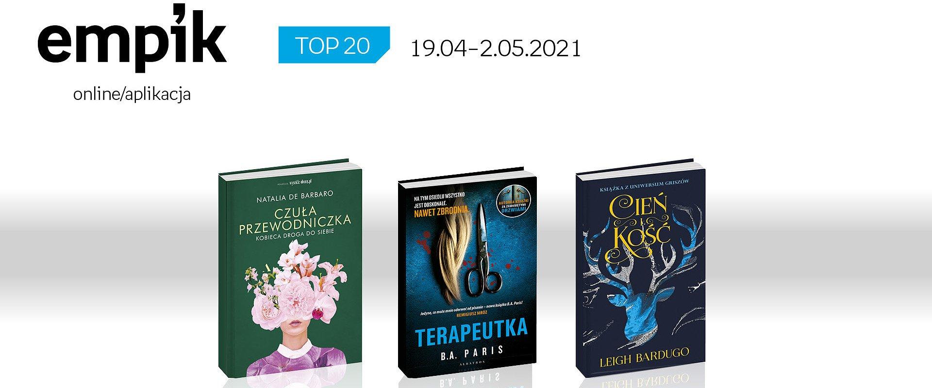 Książkowa lista TOP 20 na Empik.com za okres 19 kwietnia – 2 maja