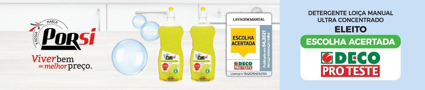 """DECO Proteste distingue detergente manual de loiça PorSi como """"Escolha Acertada"""""""