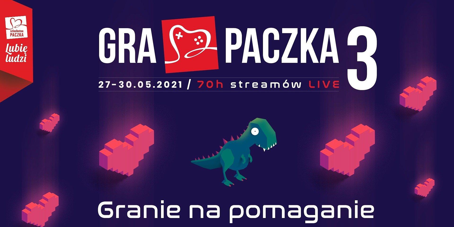 Charytatywny stream Gra Paczka 3 coraz bliżej! Już 27.05 polscy streamerzy zagrają na rzecz Szlachetnej Paczki, organizatora eventu