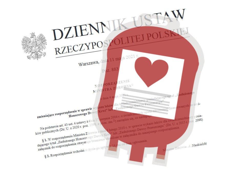 Nowelizacja rozporządzenia w sprawie wykazu leków dla dawców krwi i przeszczepów