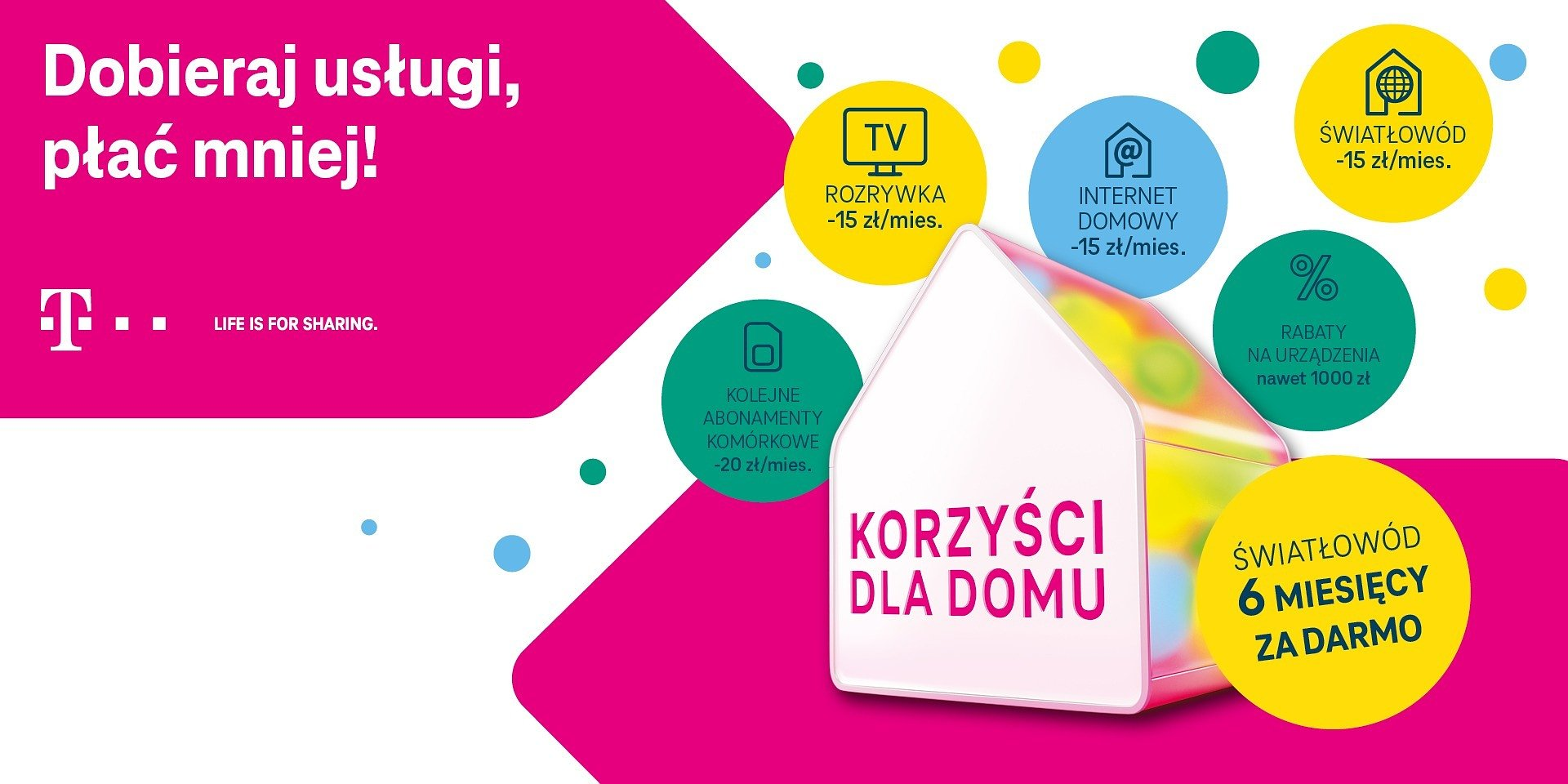 """""""Korzyści dla domu"""" od T-Mobile z nowym formatem komunikacyjnym"""