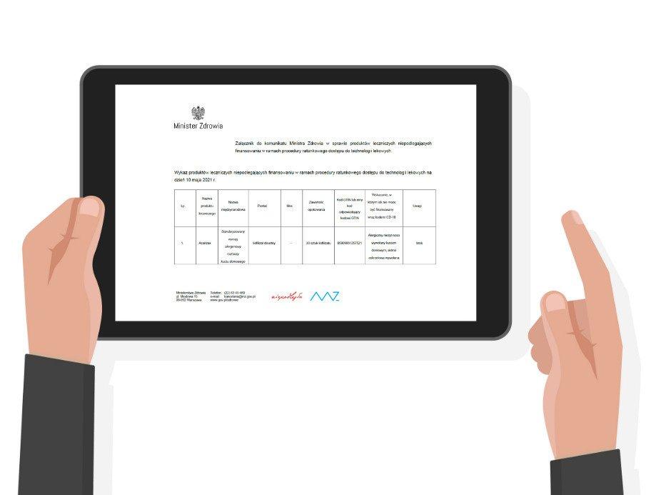 Majowa lista produktów leczniczych niepodlegających finansowaniu w ramach RDTL