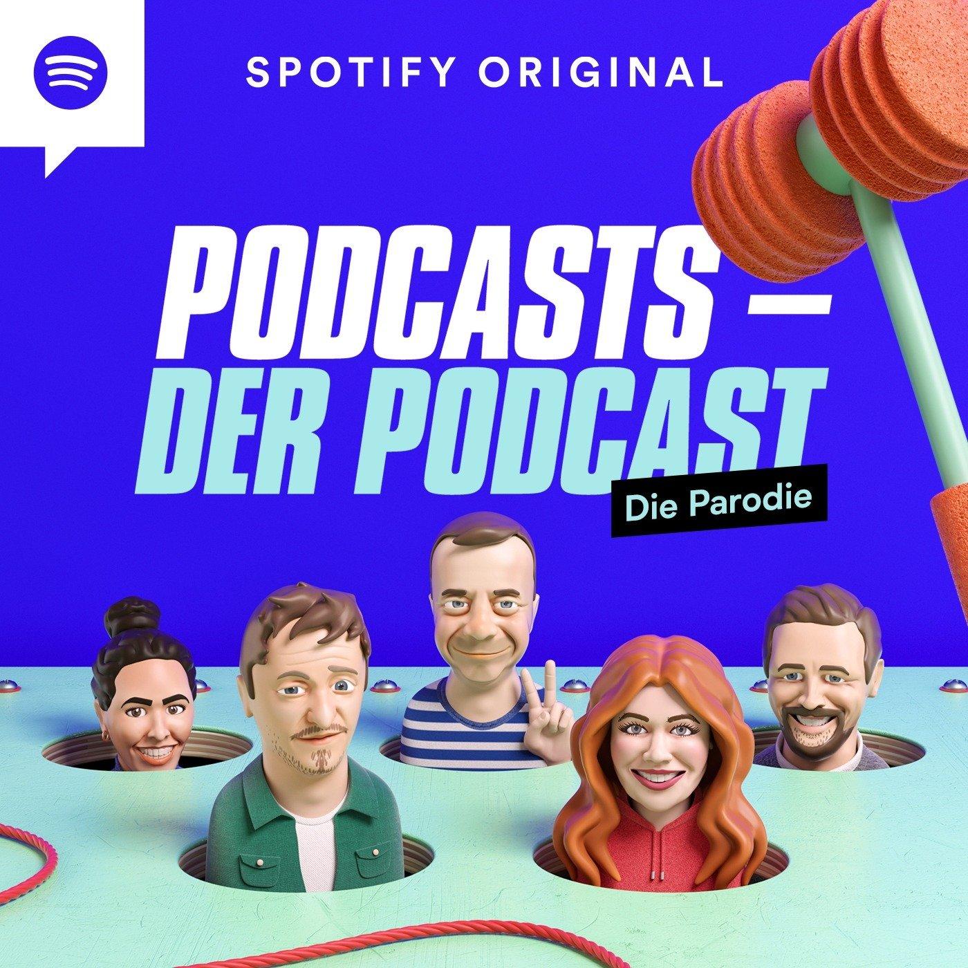 """Neuer Spotify Original Podcast: """"Podcasts – der Podcast"""" parodiert die beliebtesten deutschsprachigen Formate"""