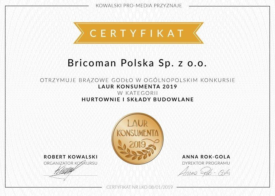 Laur Konsumenta - Brązowe Godło 2019