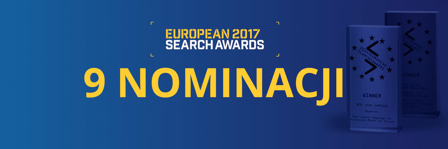 Bluerank z 9 nominacjami do European Search Awards 2017!