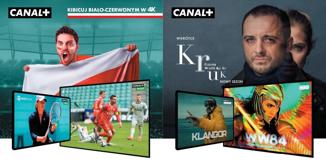 Paczka SPORT i FILM w nowych ofertach CANAL+. TVP 4K w ofercie CANAL+ na EURO 2020.