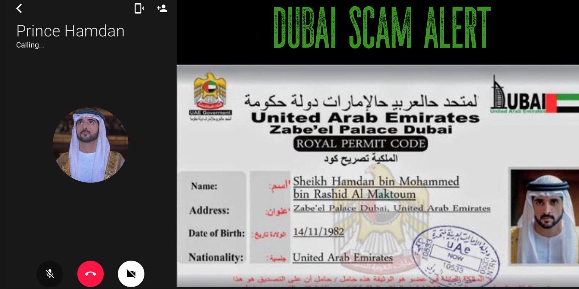 "Scottish woman exposes ""Prince Hamdan"" Dubai scam"