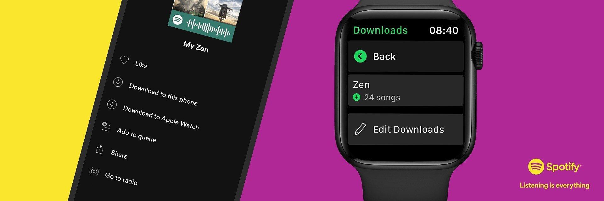 Spotify na Apple Watch teraz z funkcją pobierania i odtwarzania w trybie offline