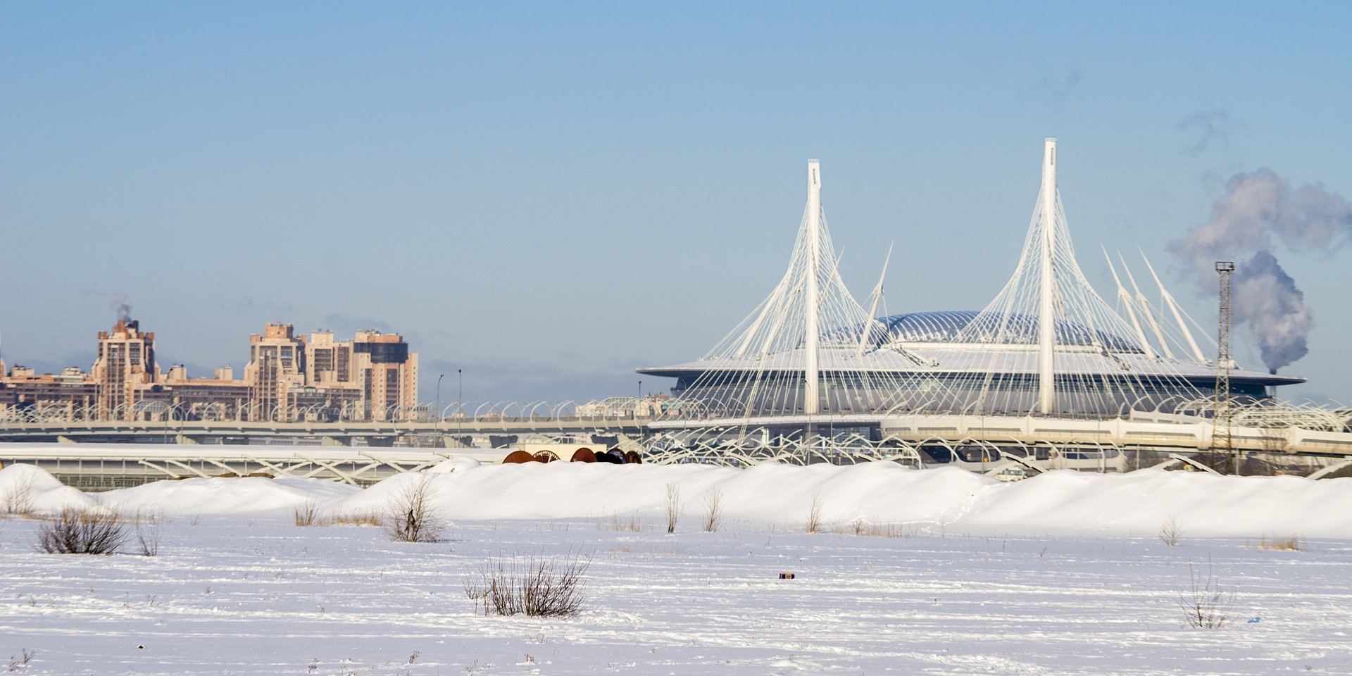 A stadium that is not afraid of Russian winter and Baltic winds