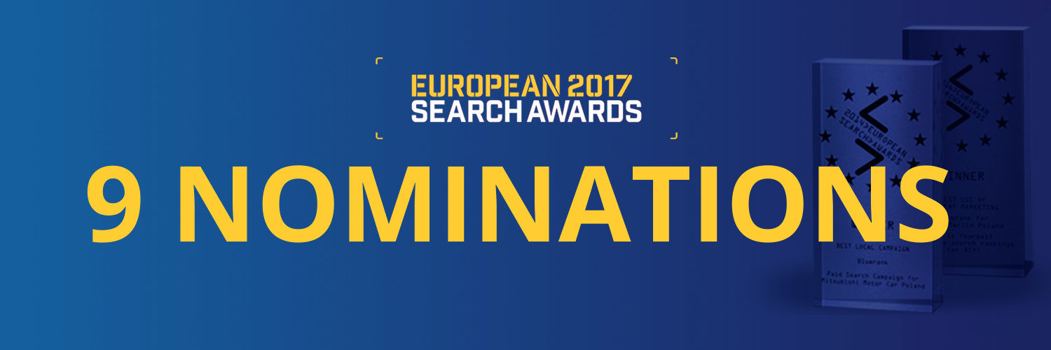 Bluerank with 9 nominations for European Search Awards 2017!