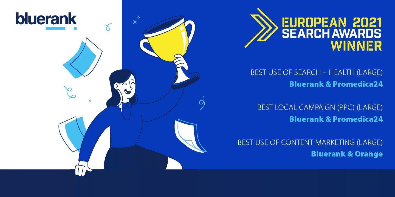 Znamy zwycięzców European Search Awards 2021. Trzy statuetki dla Bluerank!