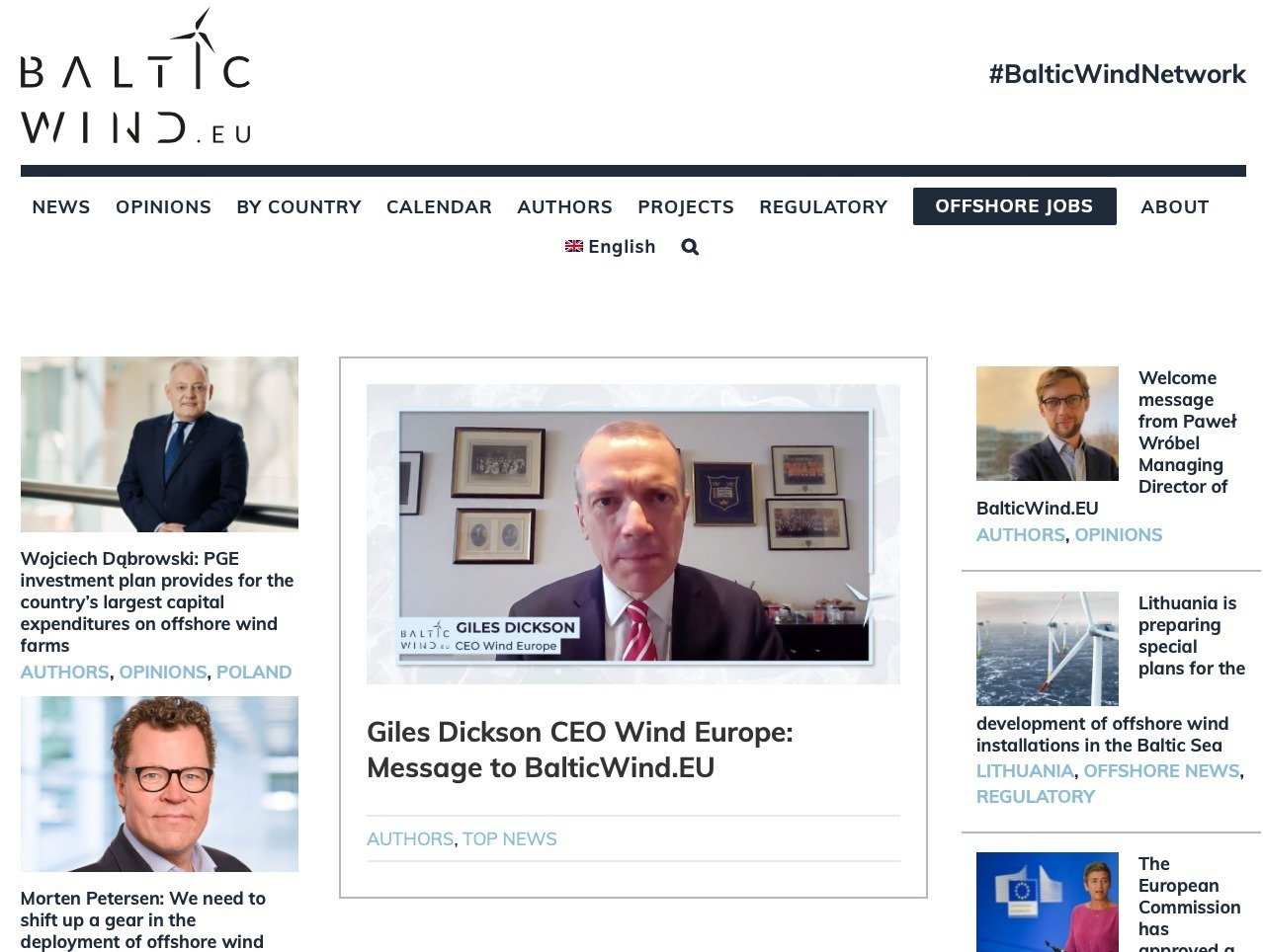 Today the first pan-European news and insights portal dedicated to wind energy in the Baltic Sea is launched