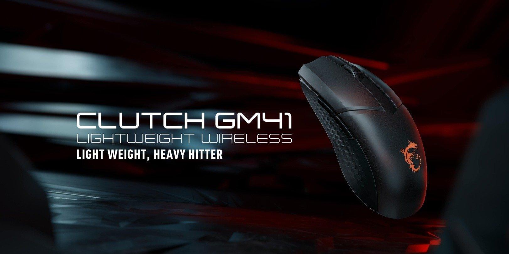 MSI CLUTCH GM41 Lightweight Wireless – bezprzewodowa mysz dla graczy wagi piórkowej