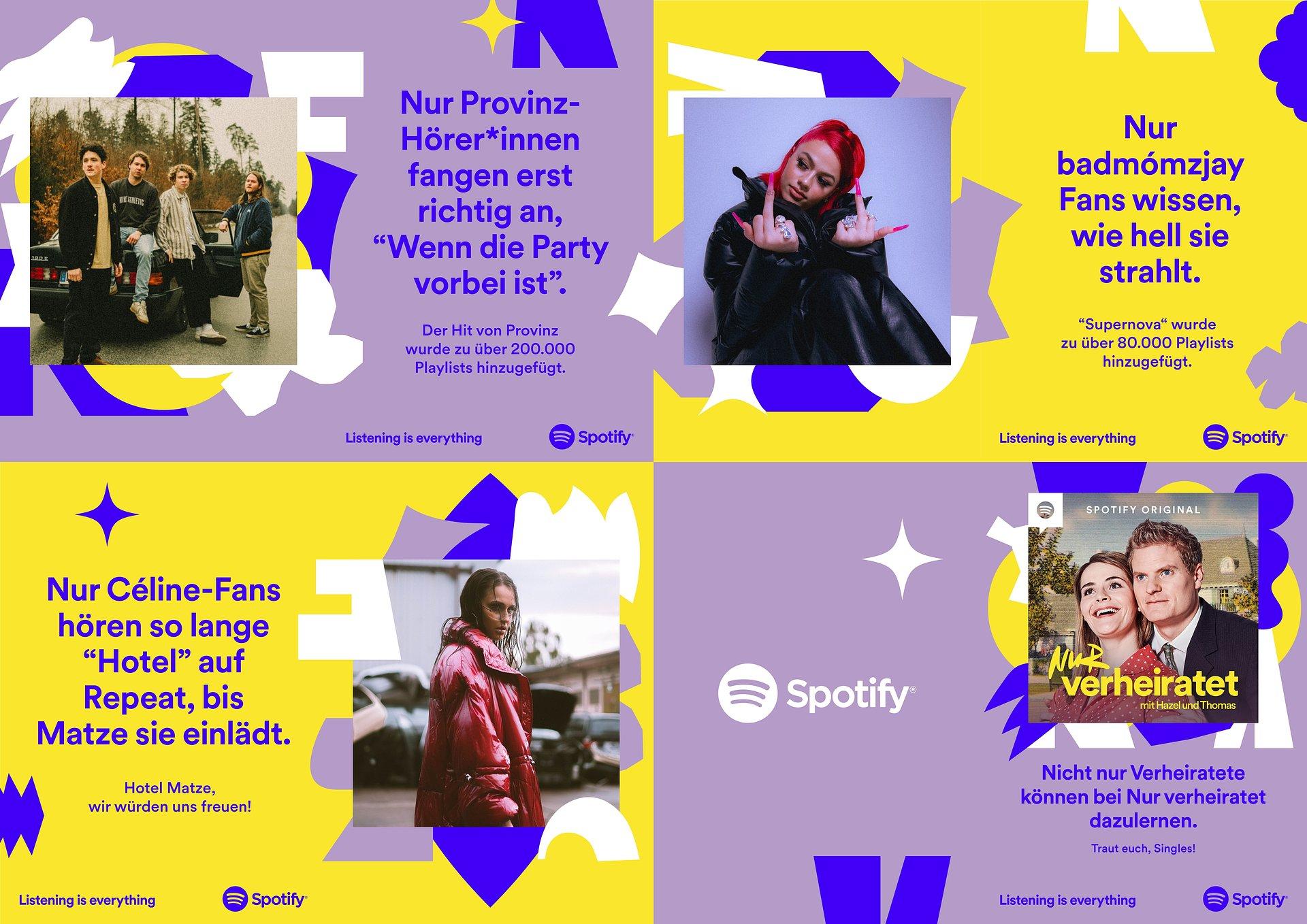 """Neue Markenkampagne """"Only You"""": Spotify rückt das individuelle Streamingverhalten der Hörer*innen in den Mittelpunkt"""