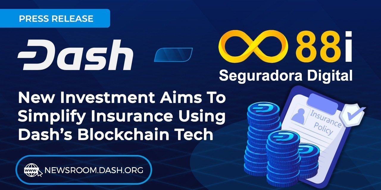 Dash Invests in Brazilian Startup 88i to Disrupt Insurance Industry with Blockchain Technology