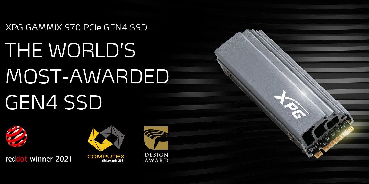 XPG Gammix S70 z nagrodą COMPUTEX d&i 2021!