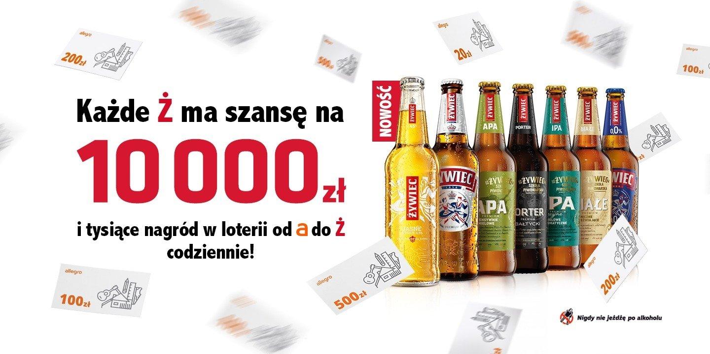 """Startuje loteria """"W Ż codziennie do wygrania 10 000 zł oraz nagrody od A do Ż"""""""