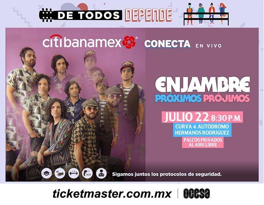 Enjambre ofrecerá un emotivo concierto en su regreso a los escenarios de la Ciudad de México