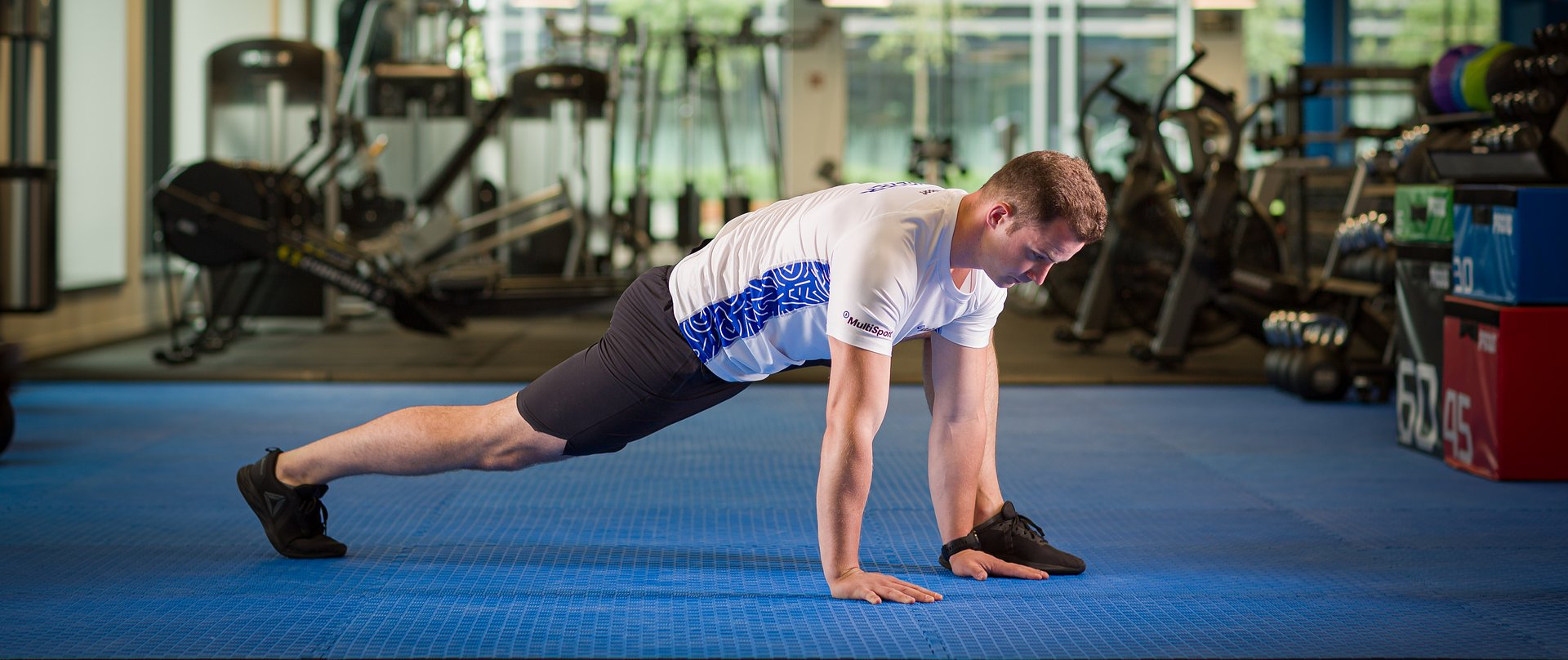A sports trainer advises on how to safely return to physical activity after a break