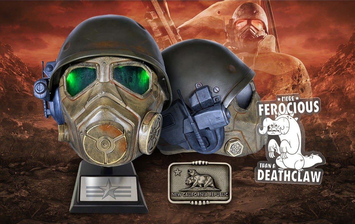 Enlist in Fallout's NCR Desert Rangers with this Wearable Helmet Bundle