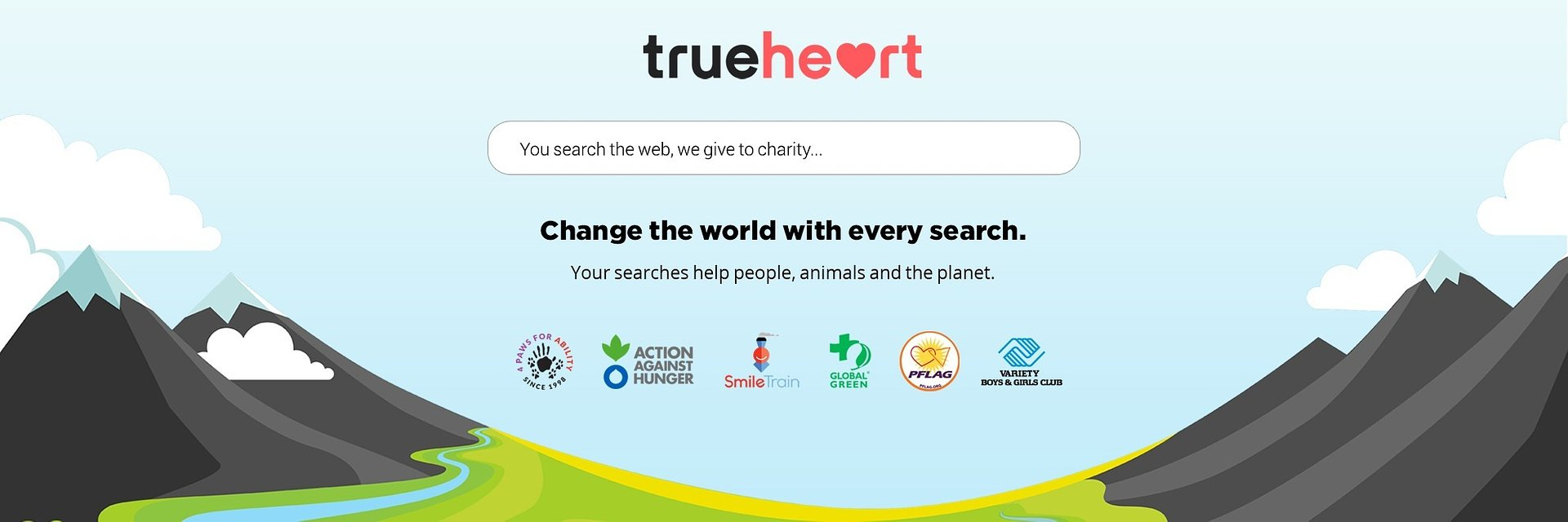 END GLOBAL HUNGER WITH EVERY SEARCH AT TRUEHEART