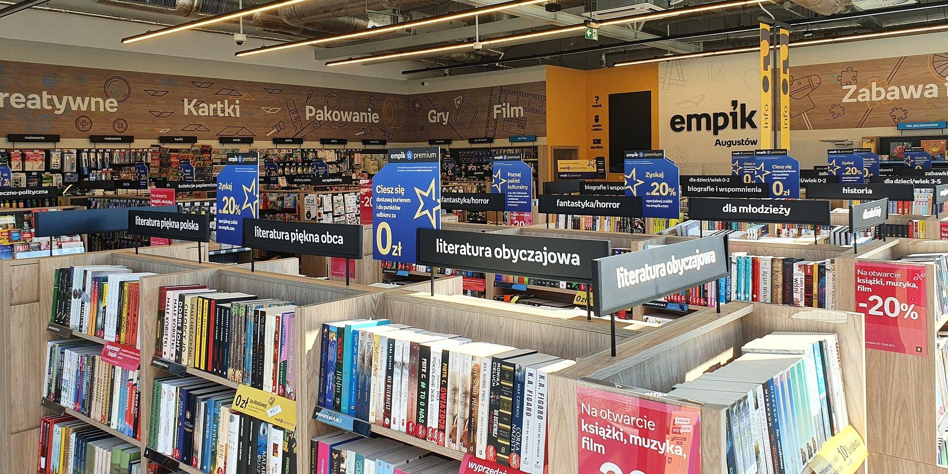 Empik ma 284 salony w Polsce. Nowy sklep sieci w Augustowie