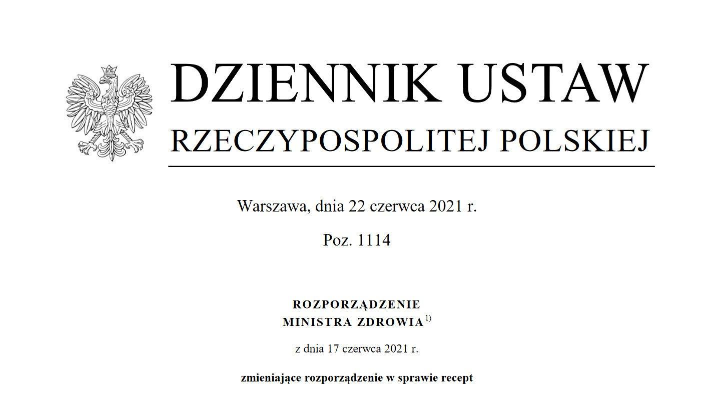 Rozporządzenie w sprawie recept obowiązujące od 1 lipca 2021 r. - tekst i opracowania