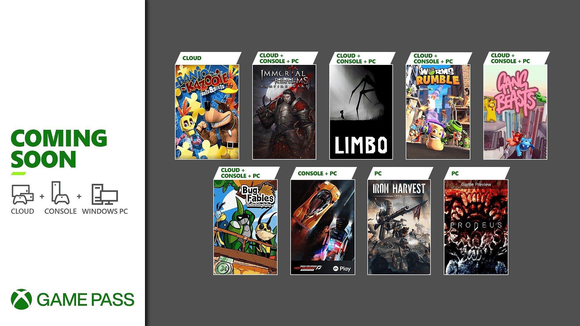 Em breve no Xbox Game Pass: Gang Beasts, Limbo, Prodeus e muito mais