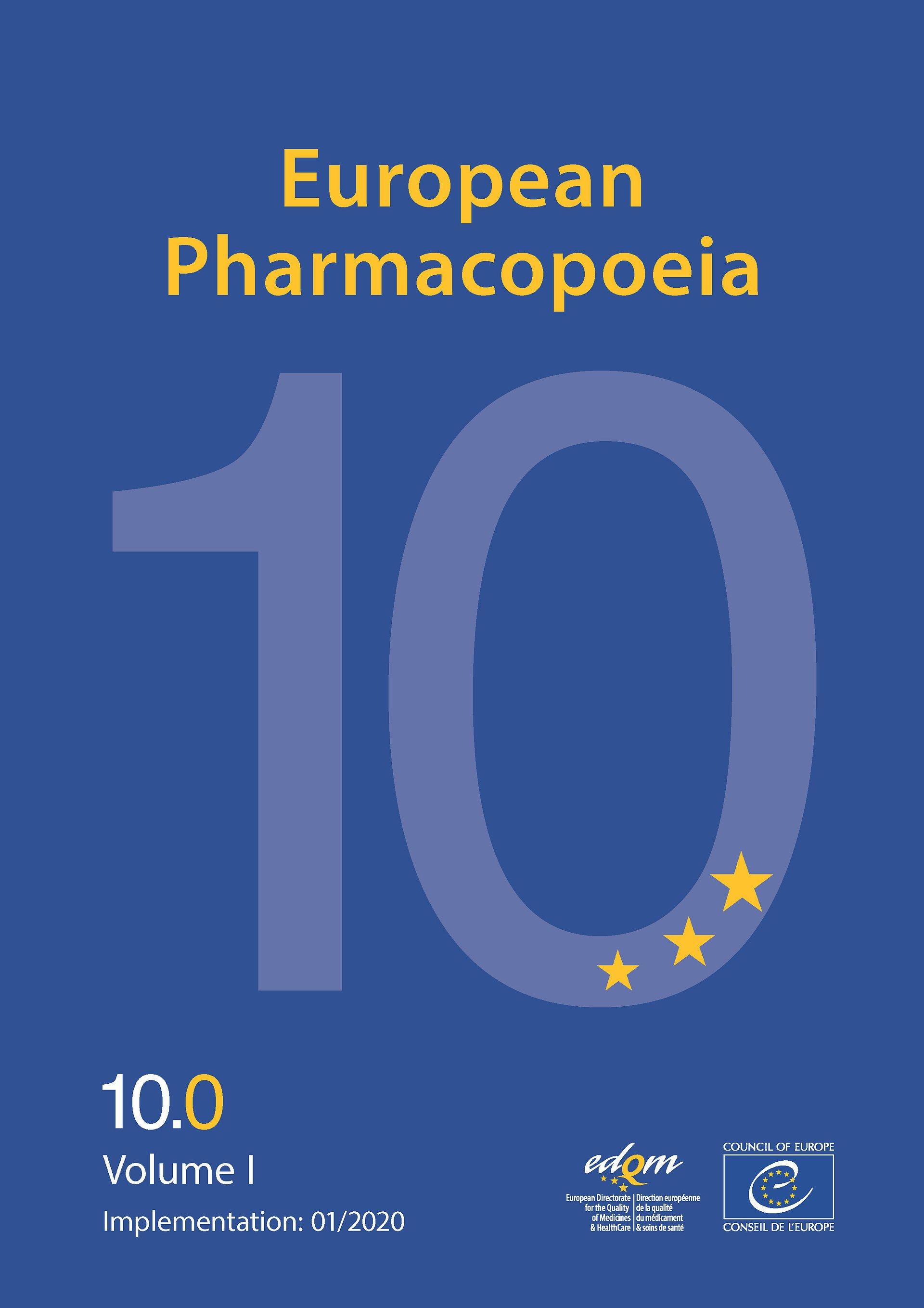 Zmiany w Farmakopei Europejskiej - suplement 10.5