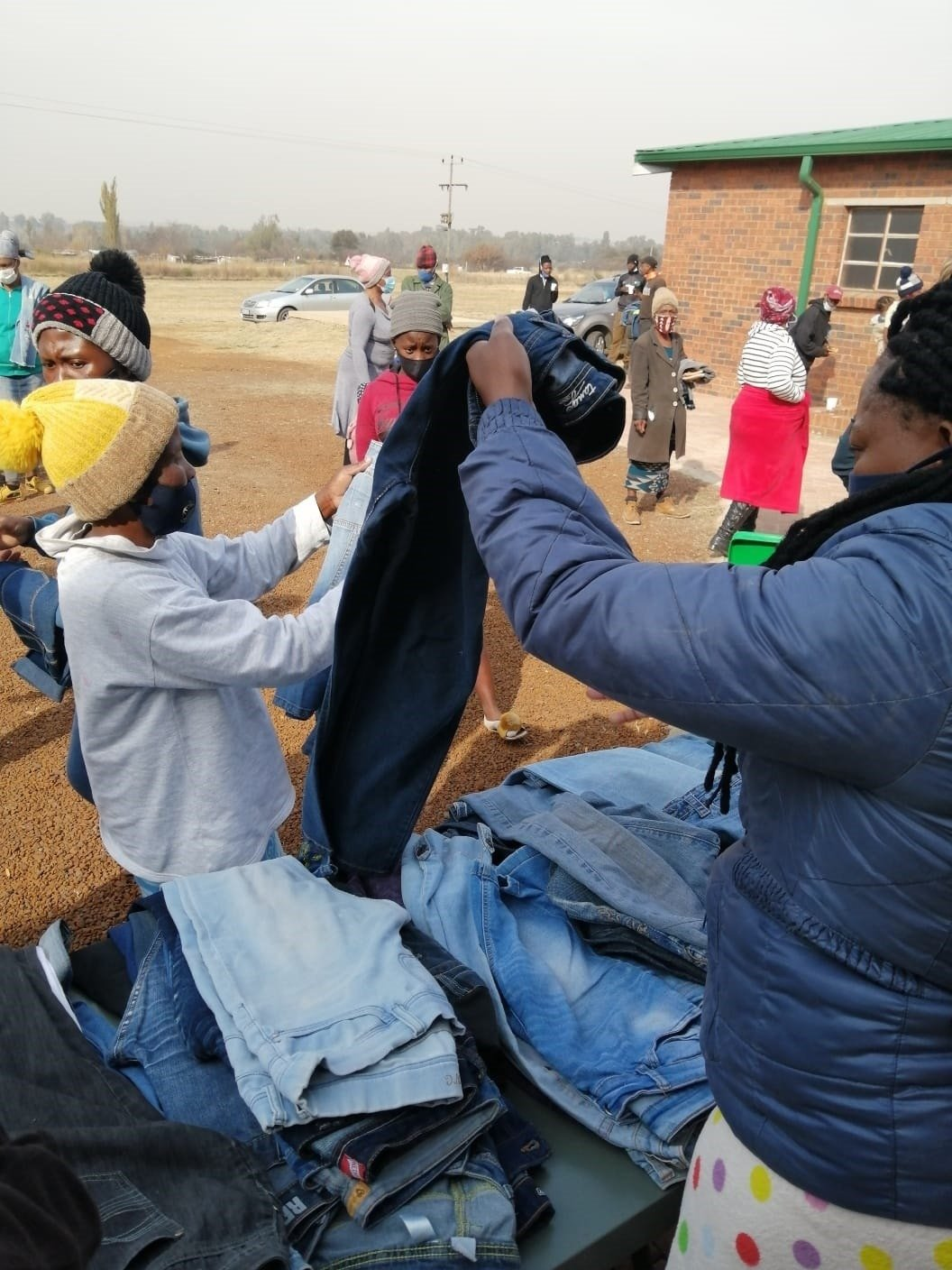 The Vaal Mall family adds warmth to winter with donated denims